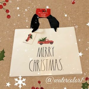 🆕 Rae Dunn MERRY CHRISTMAS Gift Bags with Tags 3 Pack